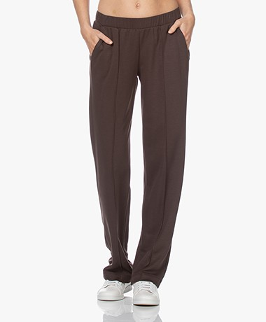 HANRO Pure Comfort Loose-fit Sweatpants - Black Coffee