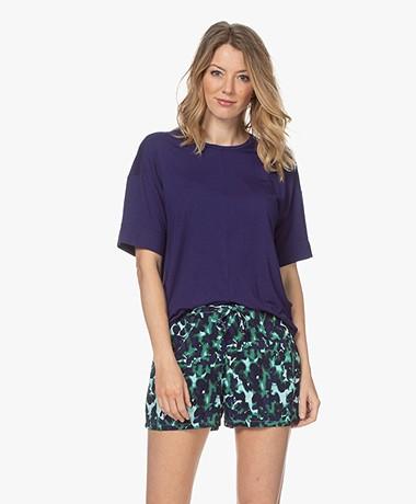Calvin Klein Modal Blend Pajama T-shirt - Purple Fuss