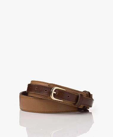 Mes Demoiselles Croisade Leather Waist Belt - Cognac