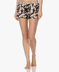 Calvin Klein Printed Pajama Shorts - Cut Out Print Charming Khaki