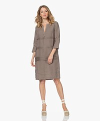 Belluna Abigail Pure Linen Dress - Taupe