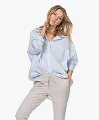 Mes Demoiselles Scharade Oversized Poplin Overhemd - Lichtblauw