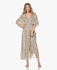 MKT Studio Rixi Lurex Maxi Print Dress - Vanille