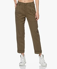 Drykorn Depart Cotton Cargo Pants - Dark Green
