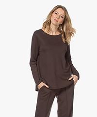 HANRO Pure Comfort Loose-fit Long Sleeve - Black Coffee