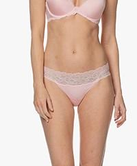 Calvin Klein Seductive Comfort Lace Thong - Sand Rose