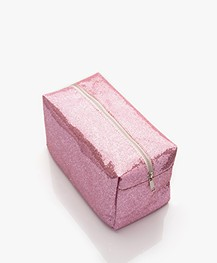 &Klevering Glitter Toiletry Bag - Pink