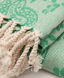Bon Bini Hammam Towel Lima 180cm x 90cm - Green