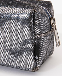 &Klevering Glitter Makeup Bag - Grey