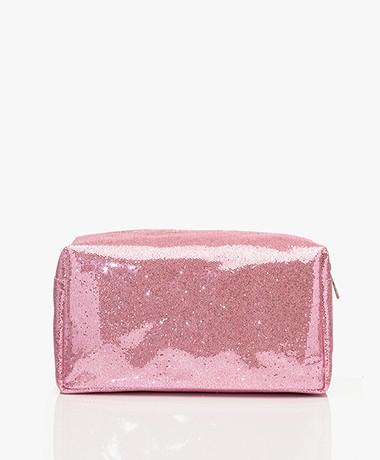 &Klevering Glitter Toiletry Bag - Pink