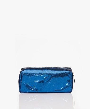 &Klevering Glitter Makeup Bag - Blue