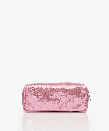 &Klevering Glitter Makeup Bag - Pink
