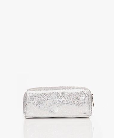 &Klevering Glitter Makeup Bag - Silver