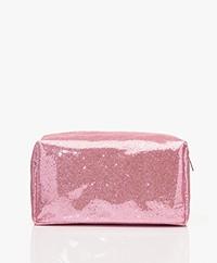 &Klevering Glitter Toilettas - Roze