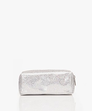 &Klevering Glitter Makeup Bag - Silver