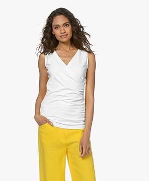 Kyra & Ko Kiana Jersey Wrap Top - White