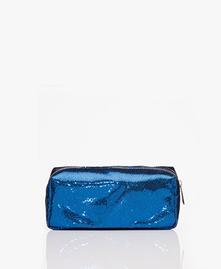 &Klevering Glitter Make-up Tas - Blauw