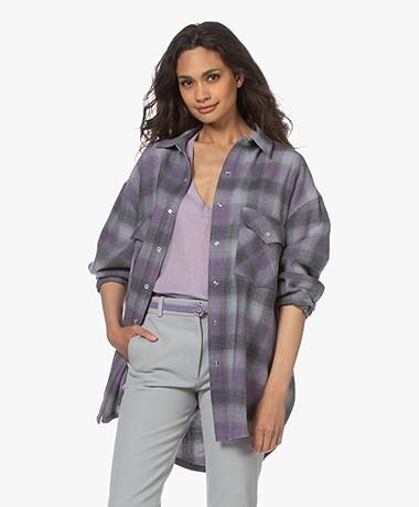 IRO Gowest Checkered Wool Jacket - Purple/Grey