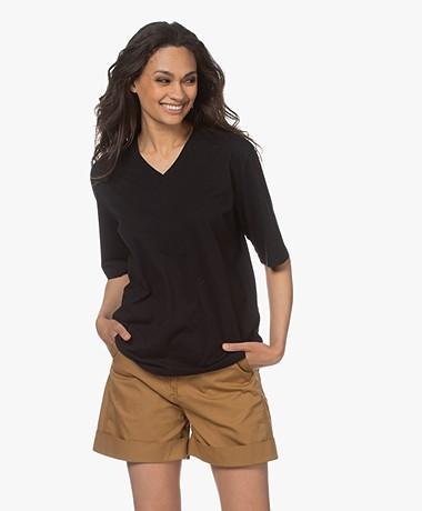 Filippa K Matilda V-Neck T-shirt - Black