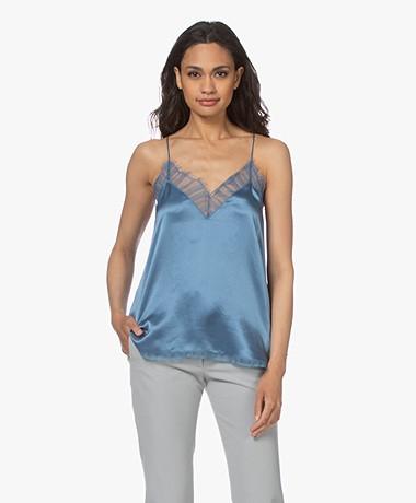 IRO Berwyn Silk Camisole - Denim Blue