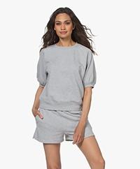 Rails Lia Puff Sleeve Sweatshirt - Heather Grey