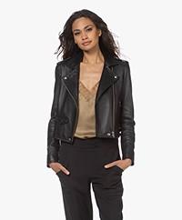 IRO Ashville Leather Biker Jacket - Black