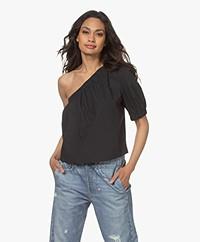 Rails Jayla One-shoulder Poplin Blouse - Black