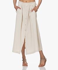 by-bar Nine Muslin Midi Skirt - Sand
