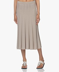 Filippa K Ruby Knitted Viscose Blend Skirt - Light Beige