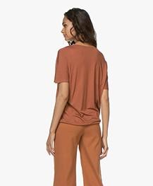 by-bar Donna Drawstring T-shirt - Terracotta