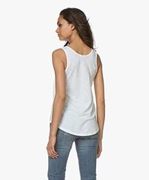 Drykorn Saimi Cotton Jersey Tank Top - White