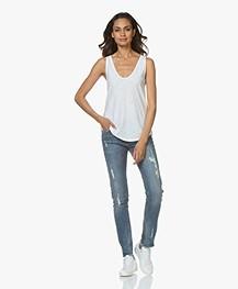 Zadig & Voltaire Eva Love-worn Slim-fit Jeans - Blauw