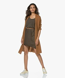 IRO Pexie Leather Suede Belt - Camel