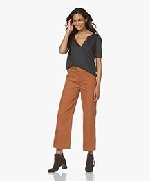 by-bar Duke Cropped Wide Leg Pants - Terracotta