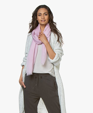 Closed Wool Scarf - Pink Blush