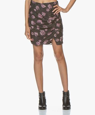 IRO Bootab Silk Chiffon Mini Skirt with Pleats - Grey