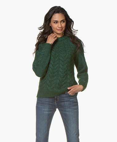 Vanessa Bruno Merry Alpacamix Cable Sweater - Sapin