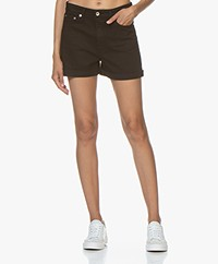 Rag & Bone Nina High-rise Denim Short - Coal