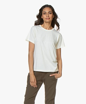 ANINE BING Maya Jersey T-shirt - Off-white