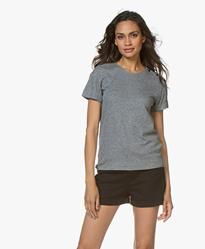 Rag & Bone Mac Rolled Sleeve T-shirt - Grey Heather