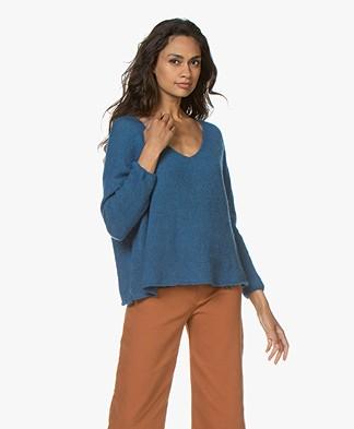American Vintage Vapcloud Mohair Blend Sweater - Shore