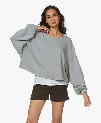 American Vintage Retburg Oversized Sweater - Grijs Mêlee