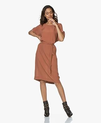 BY-BAR Jet Viscose Crepe Dress - Terracotta