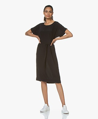 BY-BAR Jet Viscose Crepe Dress - Black