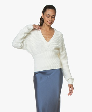 IRO Marshall Cotton-Mohair Blend Sweater - Chalk