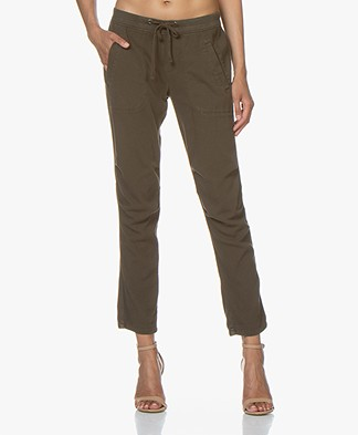 James Perse Soft Drape Utility Broek - Smokey Green