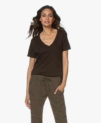 LDB Design By... Jersey V-hals T-shirt - Zwart