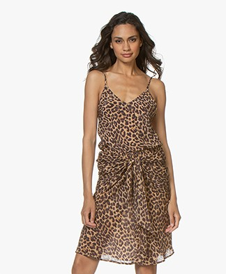 Mes Demoiselles Sherly Panther Print Top - Brown