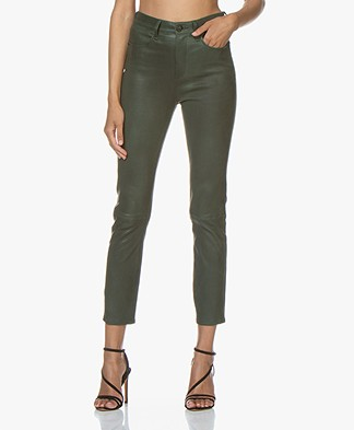 Rag & Bone Slim-fit Leather Pants - Bottle Green