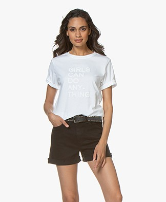 Zadig & Voltaire Bella Girls T-shirt - Wit